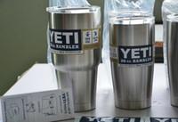 Wholesale Hot Bilayer Stainless Steel Insulation Cup OZ YETI Cups Cars Beer Mug Large Capacity Mug Tumblerful