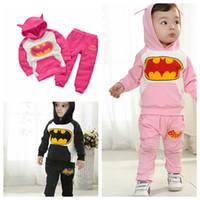 Wholesale Kids Batman Clothing Sets Sports Suit Pieces Set Tracksuits Kids Boys Girls Outfit Hoodie Pants Set Tracksuit coat trousers KKA514