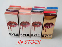 Wholesale smile moon trick colors Kylie Jenner Lip Gloss GINGER KRISTEN MALIBOO Makeup Lips Long Lasting Lip Gloss lipstick Lip Pencil