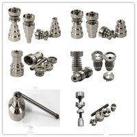 Wholesale All Of Universal Titanium Nail mm mm mm Joint Domeless Titanium Nail For Male and Female Smoking Glass Bongs Accessories