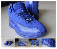 Wholesale 2016 Retro Premium Deep Royal Blue Suede Womens Mens Basketball Shoes Brand Athletic Air Retro Sport Sneakers Eur