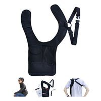 bamboo pen pad - Nylon Multi purpose Hidden Underarm Holster Shoulder Bag Outdoor Sport Storage Bag For Passport coin key pen phone pad