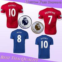 manchester - Whosales MancHester Jerseys Soccer Jerseys UnITED soccer Uniform Discount Martial mata Thai Quality Mourinho ROONEY Memphis
