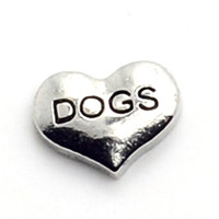 Wholesale Hot Sale silver heart dogs letter floating charms for living glass memory g Plastic umbrella heart music note cute different shape