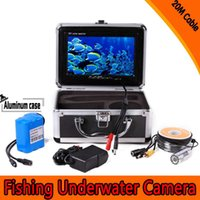 Wholesale 7 quot TFT LCD Color Monitor TVL Portable Fish Finder HD Function Underwater Fishing Camera Easy Fishing M Cable order lt no track