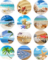 beach tv - Shell Beach glass Snap button Jewelry Charm Popper for Snap Jewelry good quality Gl310 jewelry making