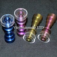 Wholesale DHL Free Colored Colorful Titanium Nail With Quartz Bowl Anodized Color mm mm mm Female Joint Titanium Nails Smoking Glass Bongs ecigs