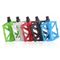 Wholesale 1 Pair Hot Bicycle Pedals Mountain Bike MTB Road Cycling Alloy Vintage Bearing BMX Ultra light Platform Pedal Color New Arrival