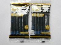Precio de Cartuchos de tinta de la fuente al por mayor-Wholesale-12pcs azul y cartuchos de tinta de la pluma de la pluma de relleno negro HERO