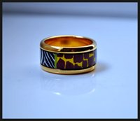 africa band - Wild Africa series K gold plated enamel rings Top quality ring for women band rings for gift