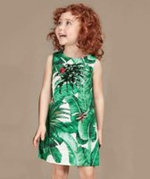 banana dresses - 2016 Wlmonsoon Monther and Daughter Dresses New Banana Leaves Pringting Autumn New Sleevesless Dresses Children Fashion Printed Dresses