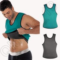 Wholesale Men s Neoprene Vest Shapewear Sports Training Running Muscle Body Shapers Fitness Sauna Corset Ultra Sweat Shaper XS XL CCA4455