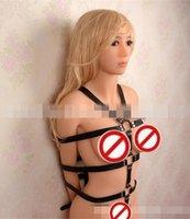Female leather body harness - Hot Sale Women Whole Body bondage harness women slave restraints leather harness sex toys