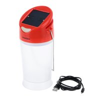 Wholesale LIXADA LED Solar Battery powered Portable handheld Lantern Lights rechargeableTwo Modes for Hiking Camping Emergencies Indoor