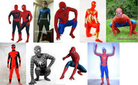 spandex body suit - 8 Style New Lycra Spandex Full Body Sexy Suit Catsuit Halloween Party Zentai Costumes