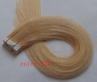 Wholesale Free Ship quot Blond Color g g pc g pc Indian Human PU Tape Hair Glue Skin Weft Hair Extensions