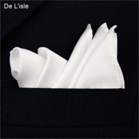 Wholesale 100 Natural Silk Men s Handmade Classical White Pocket Handkerchief Pocket Square Hanky