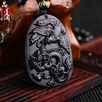 baylor gifts - Black dragon phoenix whiskers hand up baylor jade Buddha pendant natural way women man jewelry rope for delivery