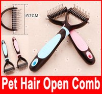 Wholesale Pets Trimmers Blades Dogs Combs Stainless Steel Open The Knot Bakes Make Pet Hair Thin Clipper Dog Grooming Tool Bakes Brush
