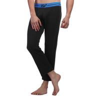 online shopping Men White Underwear Pants - Wholesale-Fashion Men Long Johns Winter Sleep Underwear Pants Crazy Pants S M L XL