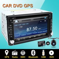 auto tv monitors - Steering wheel Auto din car dvd player Radio GPS PC Video Camera Monitor For VW universal RDS Blutooth digital tv option Cam