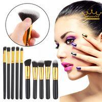 beige eye pencil - 10pcs set Professional Eye brushes set eyeshadow Foundation Mascara Blending Pencil brush Makeup tool Cosmetic Makeup Brushes