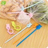Wholesale 3pcs Food Bag Clips CM Length Food Fresh keeping Plastic Bag Sealing Clip Kitchen Tools Bag Silicone Ties