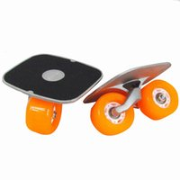 Wholesale New Portable Drift Board For Freeline Roller Road Driftboard Skates Anti skid Skate board Skateboard Sports Flash Wheels