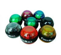 Wholesale E0688 NEW color optional Gyroscope LED Wrist Strengthener Ball arm Grip Ball Power Muscle Exercise