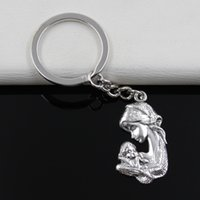 antique mothers ring - Fashion diameter mm Key Ring Metal Key Chain Keychain Jewelry Antique Silver Plated mother hold son mm Pendant