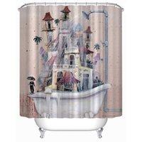 bathtub curtains - Customs W x H Inch Shower Curtain Funny Bathtub Waterproof Polyester Fabric Shower Curtain