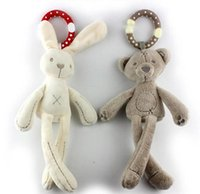 bear rattle - new arrival kid Boy girl cute Rabbit bear Rattle hanging toy baby plush with Wind bell doll soft gift