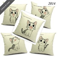 baby poetry - Dream Poetry Sweet Cat Baby Cartoon Emotion Home Decorate Cat Sweet Cotton Linen Sofa Cushions Cover Cat Little Animal Printed Pillow Covers