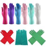 Wholesale Kids Gloves Frozen Elsa Gloves Costume Gloves Long Halloween Christmas Party Snow Queen Elsa Gloves Satin Gloves Colors