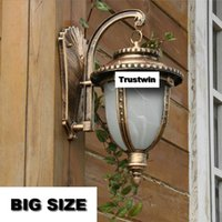 AC antique wall light sconces - 12 pieces wall light outdoor bronze antique american classical outside wall sconce waterproof copper woutdoor wall lamp wholsale