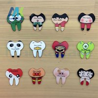 acrylic teeth set - 12 Set Japanese Harajuku style cartoon Healthy teeth acrylic brooch pin DIY patch