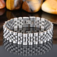 wood bangles - Brand New Delicate Silver Bracelets Jewelry Stainless Steel Bracelet Bangle for men Boys Best Xmas Gift