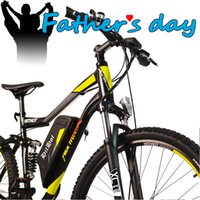 bicycle front shock fork - US IN STOCK Addmotor HITHOT H1 Sport Fork Suspension Spring Shock Absorber Yellow V W quot Samsung Battery Mountain Electric Bicycle