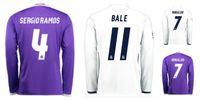 Wholesale Whosales Madrid Jersey Soccer Jerseys Uniform Real Cristiano Ronaldo Bale James Soccer Jersey1617 Full Long sleeve Neymar JR MESSI