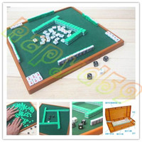 Wholesale Small Travel Mahjong set Mini Mahjong portable Mahjiang tiles with table traditional chinese family Board Game