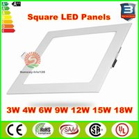 Wholesale Ultra thin LED Ceiling Panel Light w w W W W W Recessed Dimmable LED Panel Lights fixtures Square warm nature cool white