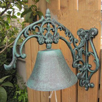 antique cast iron dinner bell - Cast Iron WELCOME Dinner Bell Wall Mounted Metal Bell Crafts Home Shop Store Wall Decoration Door Cabin Antique