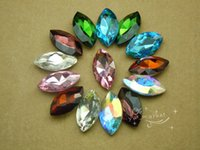 Wholesale 70 mm x mm Navette Colour Glass Faceted DIY Glass Jewels