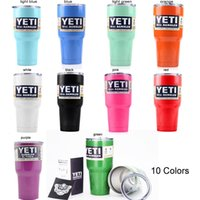 Wholesale Hot Bilayer Stainless Steel Yeti Cup OZ Cups Cars Beer Mug Large Capacity