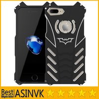 aluminum carry case - For iPhone Plus iPhone s s Plus SE Shockproof Original Rjust Batman Hybrid Defender Shockproof Aluminum Metal Protective Carrying Case