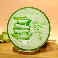 Wholesale Nature Repiblic Aloe Vera Gel Moisturing Whitening Acne Treatment Anti Aging Free Shiping Transparent Repair The Skin After Sun