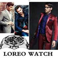 alibaba watches - Alibaba Fashion Luxury LOREO Men Watch Calendar Automatic Mechanical Watch Male Casual Dress Multi Function Clocks Relogio A41