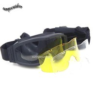 Wholesale Outdoor Sports Glasses Hunting Shooting Protection Gear Airsoft Goggles Cycling Sunglasses Tactical ESS Style Shooting Goggles