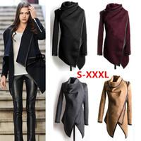 Wholesale 4043 new Fashion Women Slim WOOLen autumn winter Warm Long Coat Jacket Trench Windbreaker cardigan Outwear Coats jackets plus size XXXL
