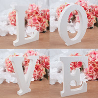 alphabet party supplies - Creative Wedding Letter Signs L O V E Love Freestanding Wooden English Alphabet for Wedding Decor or Photography Props